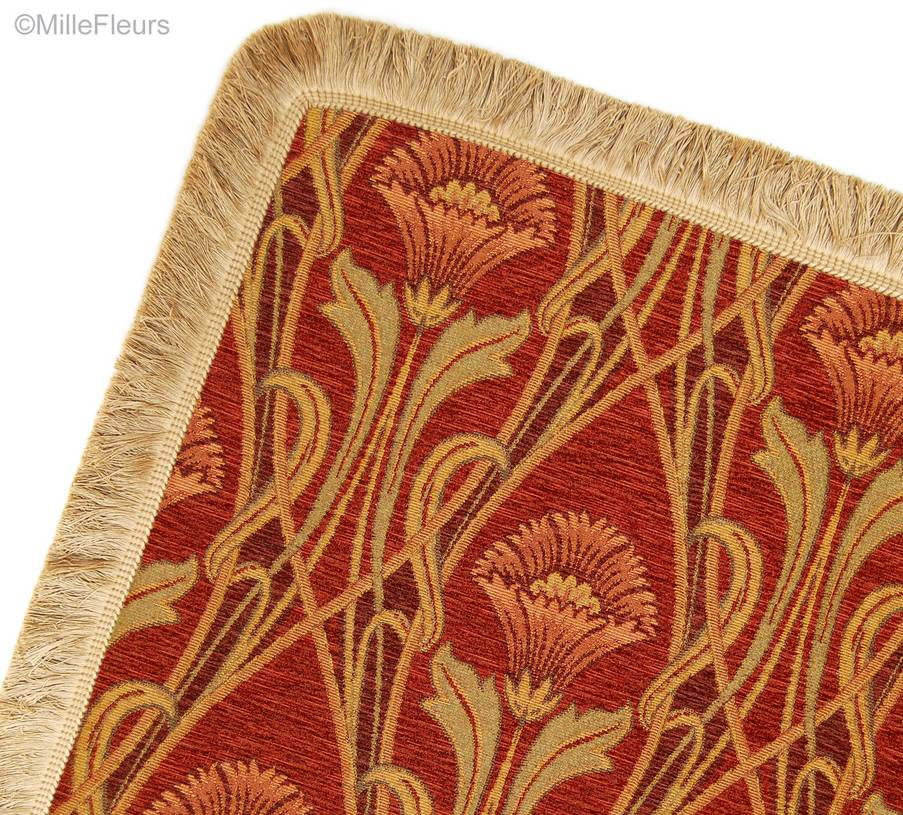 Zanna, burgundy Throws & Plaids Heavy Chenille Throws - Mille Fleurs Tapestries