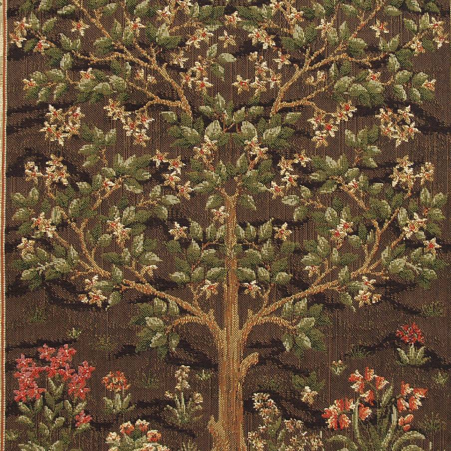 Arbol de la Vida, marrón Fundas de cojín William Morris & Co - Mille Fleurs Tapestries