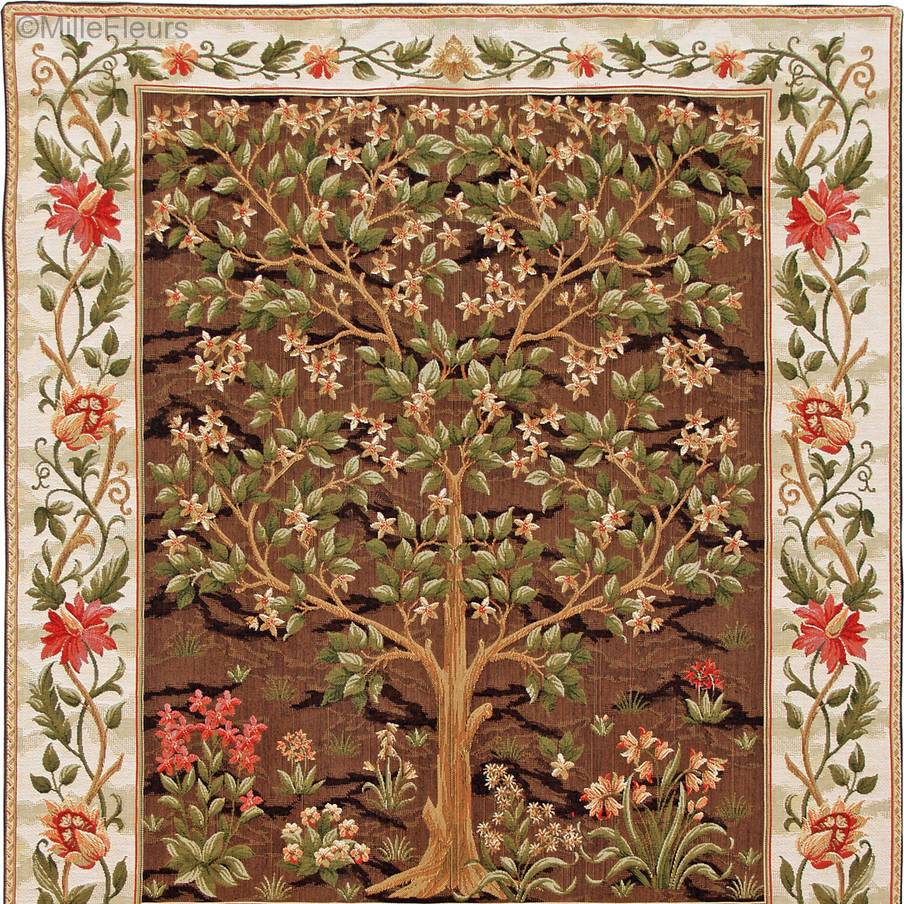Arbol de la Vida, marrón Tapices de pared William Morris & Co - Mille Fleurs Tapestries