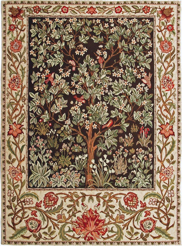 Tree of Life Wall tapestries William Morris and Co - Mille Fleurs Tapestries