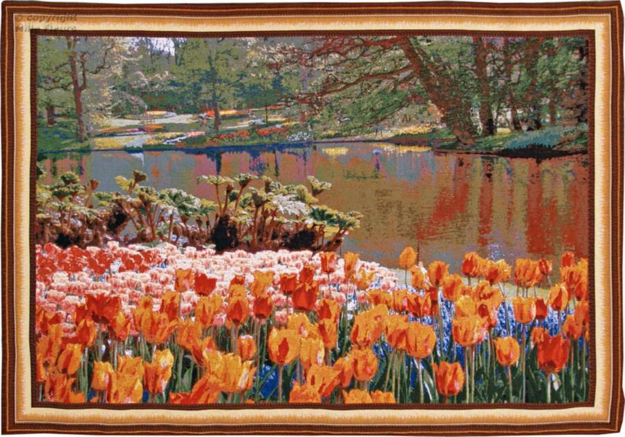 Tulips and Lake Wall tapestries Keukenhof - Mille Fleurs Tapestries