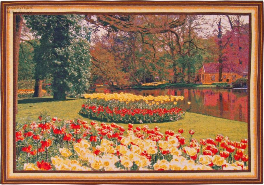 Tulips in Yellow and Red Wall tapestries Keukenhof - Mille Fleurs Tapestries