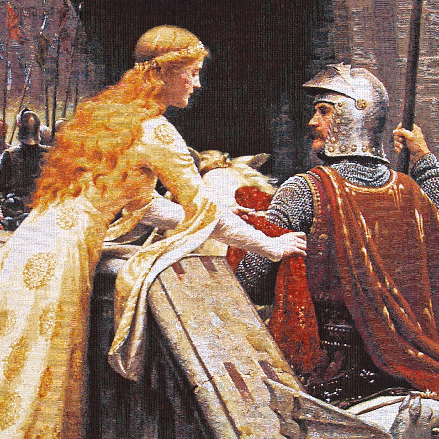 SDFSD Englands ber/ühmtes Gem/älde Godspeed Edmund Blair Leighton Poster gedruckt auf Leinwand Wandbild Wohnzimmer dekorative Kunst Malerei 30X40CM