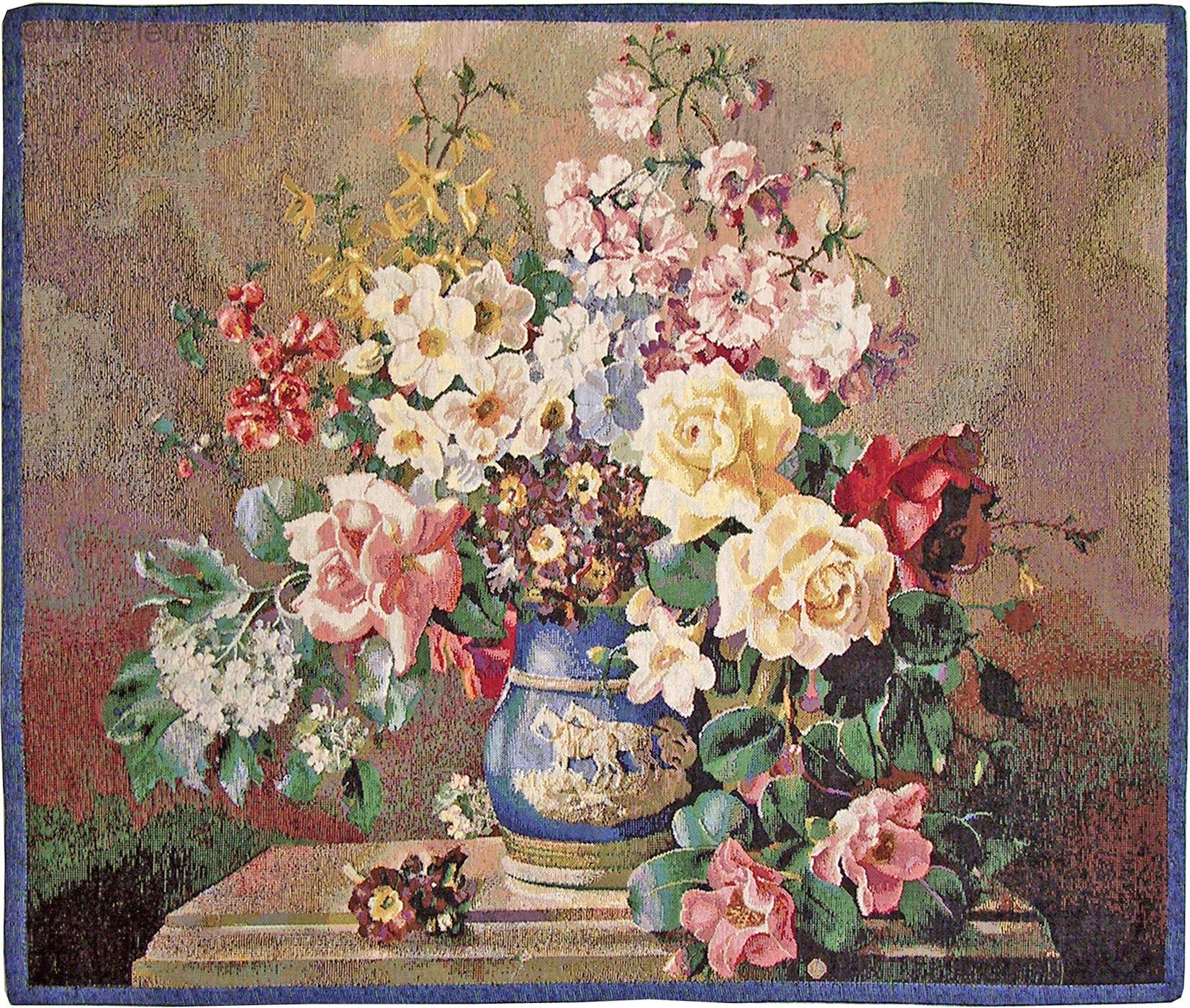 bouquet joyeux floraux et nature tapisseries murales mille fleurs tapestries. Black Bedroom Furniture Sets. Home Design Ideas