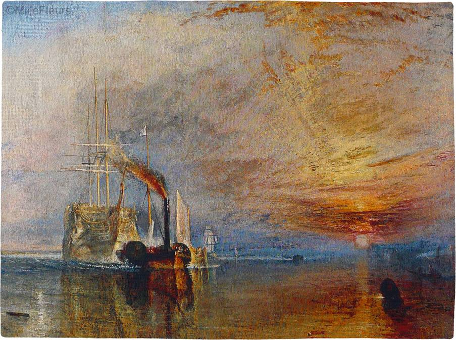 The Fighting Temeraire (William Turner) Wandtapijten Kaarten en Nautisch - Mille Fleurs Tapestries