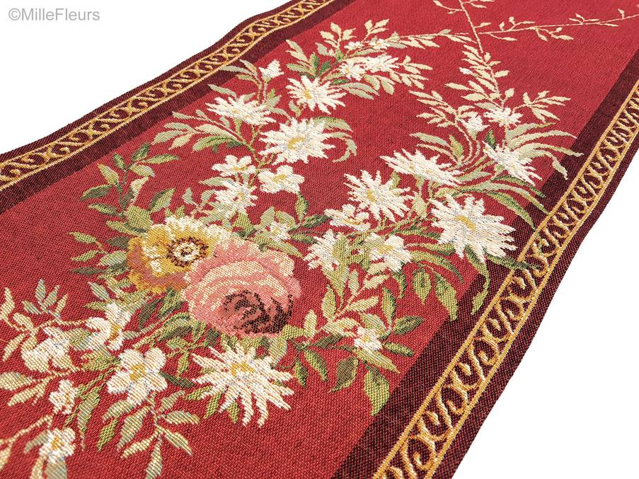 Aubusson Tafellopers Lopers in een punt - Mille Fleurs Tapestries