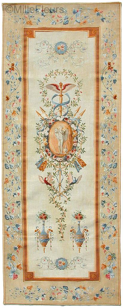 Panel With Cupid Wall tapestries Romantic and Pastoral - Mille Fleurs Tapestries