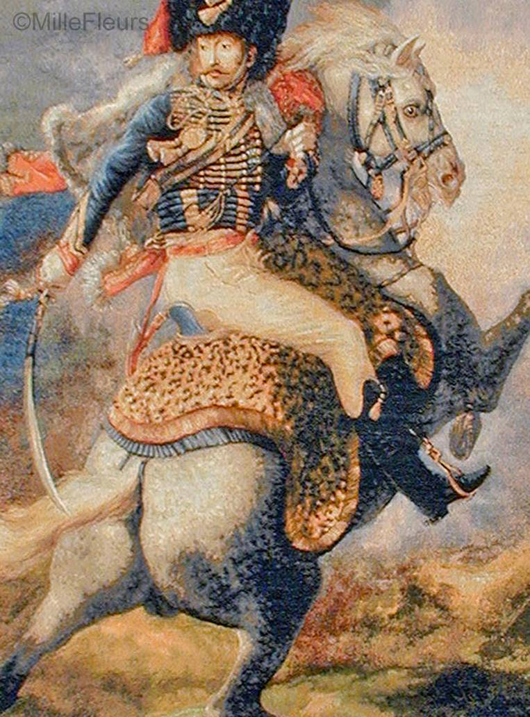 The Charging Chasseur Tapices de pared Imperio y Neoclasicismo - Mille Fleurs Tapestries