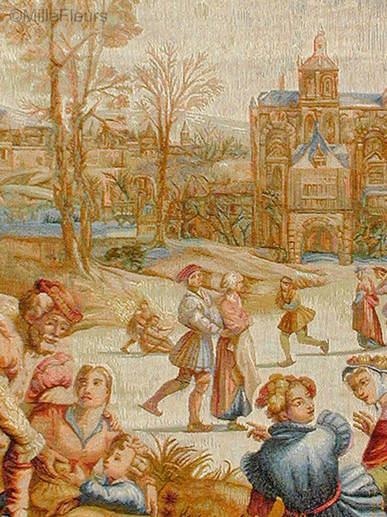 Los Patinadores Tapices de pared Imperio y Neoclasicismo - Mille Fleurs Tapestries