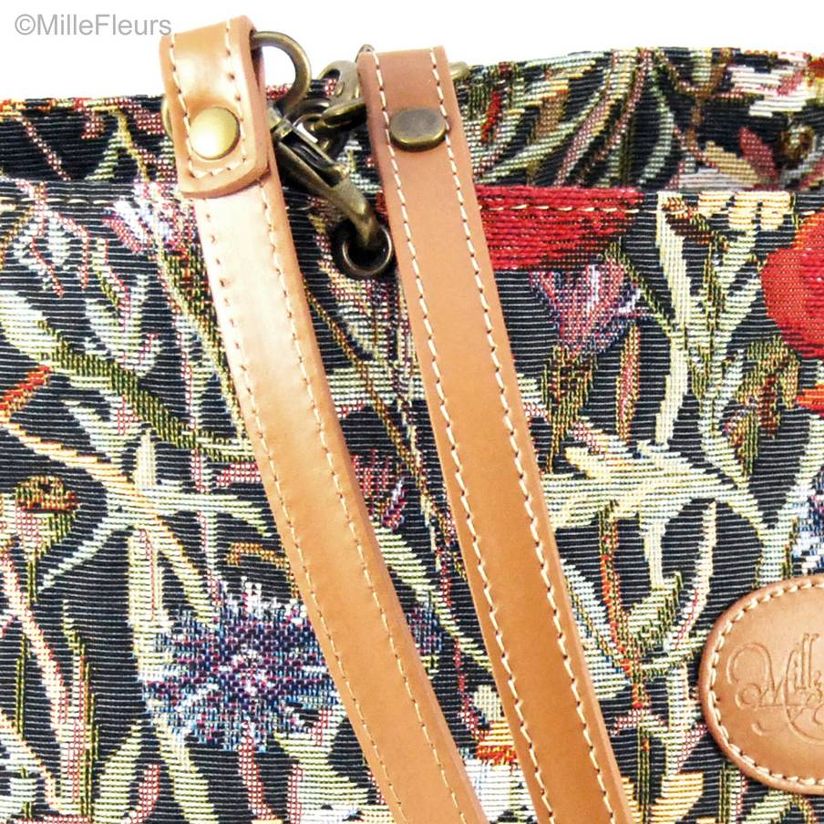 open shopping bag Bags & purses Poppy Meadow - Mille Fleurs Tapestries