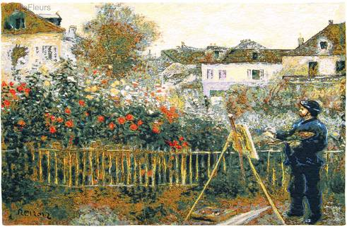 Monet Painting in his Garden (Renoir)